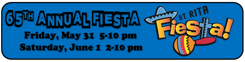 65th annual Fiesta; Friday, May 31, 5-10 pm; Saturday, June 1, 2-10 pm